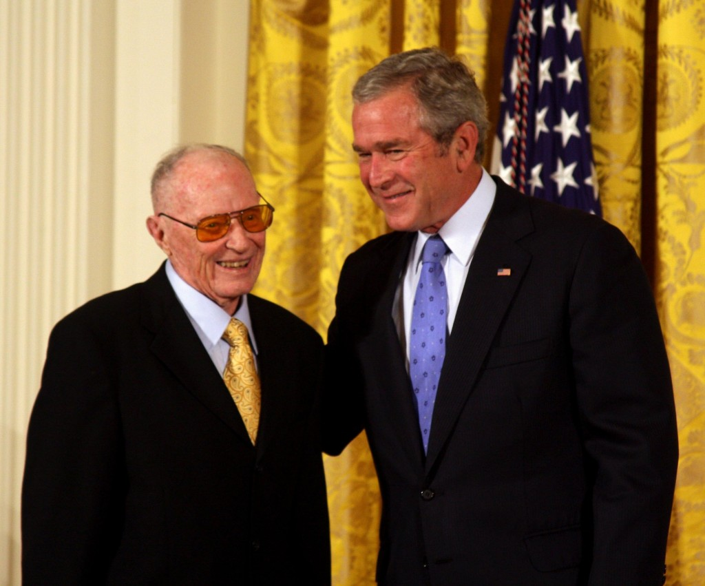 Craig Noel with President George W. Bush after receiving the National Medal of Arts in 2007.