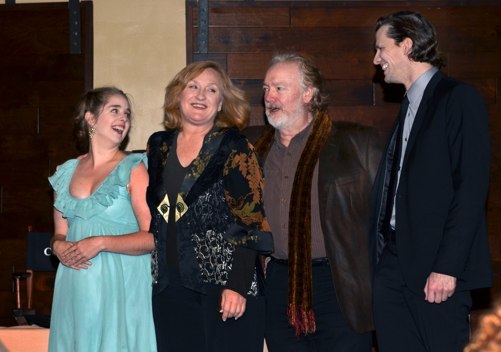 "Members of the ""Outstanding Dramatic Production"" cast, from left, Erin Petersen, Deborah Gilmour Smyth, Robert Smyth and Ross Hellwig of Intrepid Theatre's ""Who's Afraid of Virginia Woolf?"""